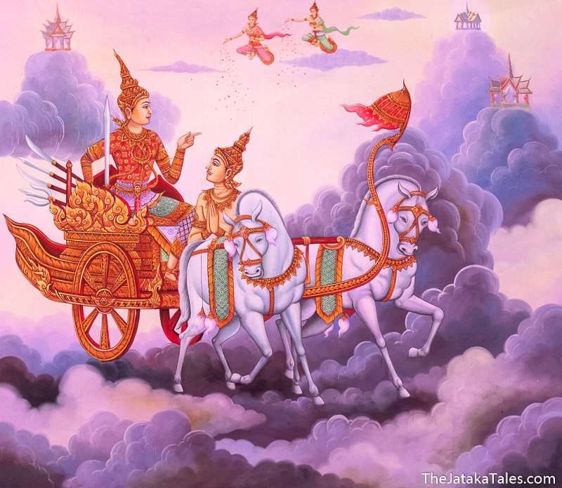 Nimi riding in the chariot through heaven