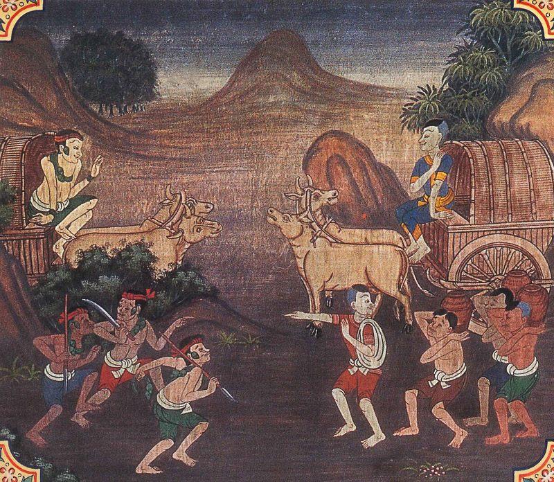 painting of Apannaka Jataka