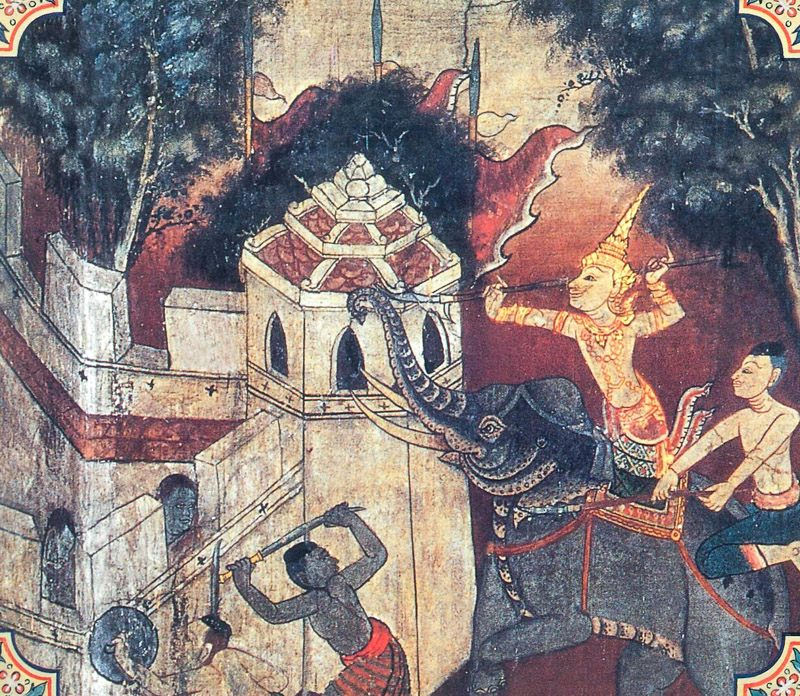 temple painting of Asatarupa Jataka
