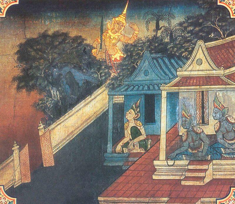 temple painting of Parosata Jataka