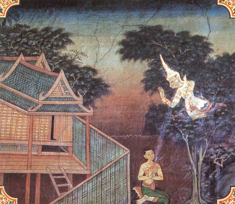 temple painting of Pannika Jataka