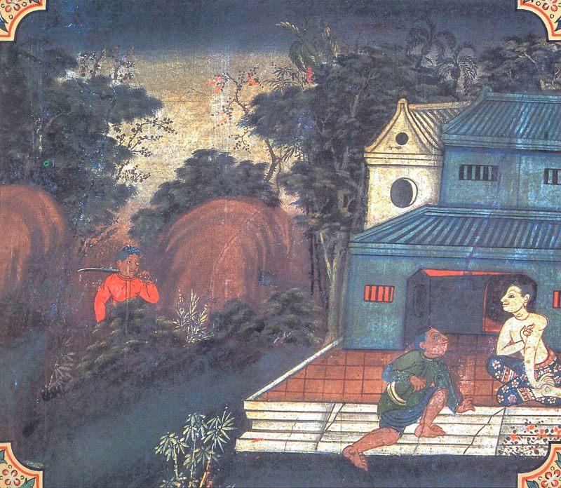 temple painting of Veri Jataka
