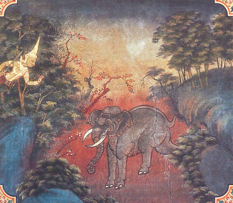 temple painting of Dubbalakattha Jataka