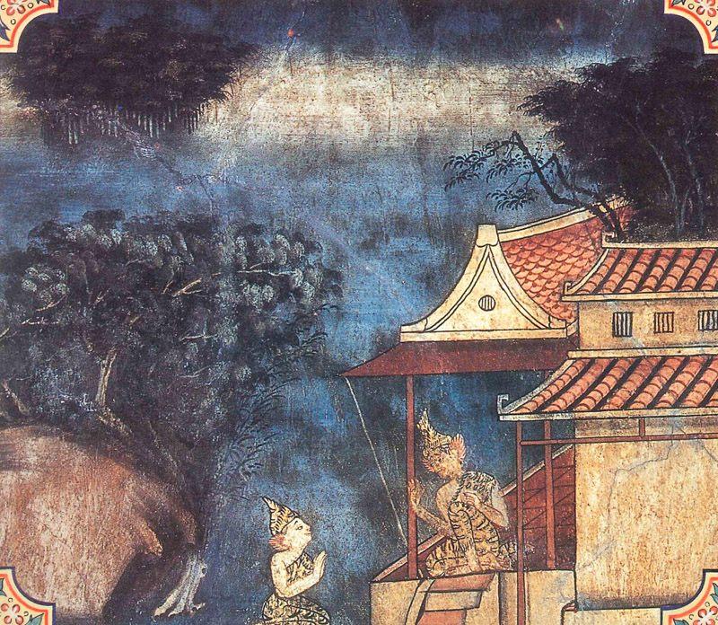 temple painting of Udancani Jataka