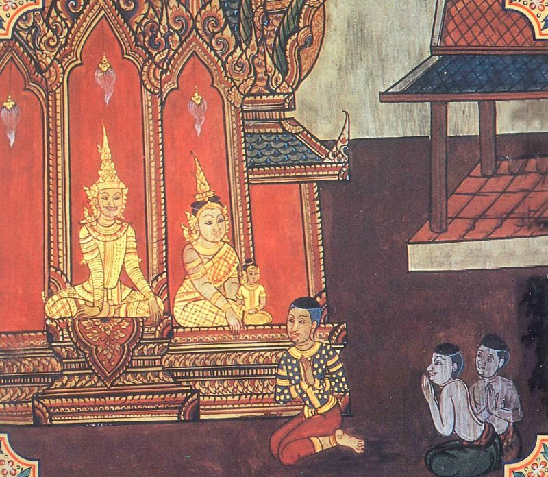 temple painting of Bahiya Jataka