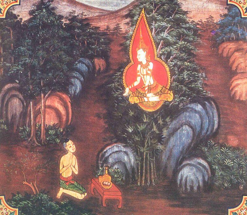 temple painting of Kundakapuva Jataka