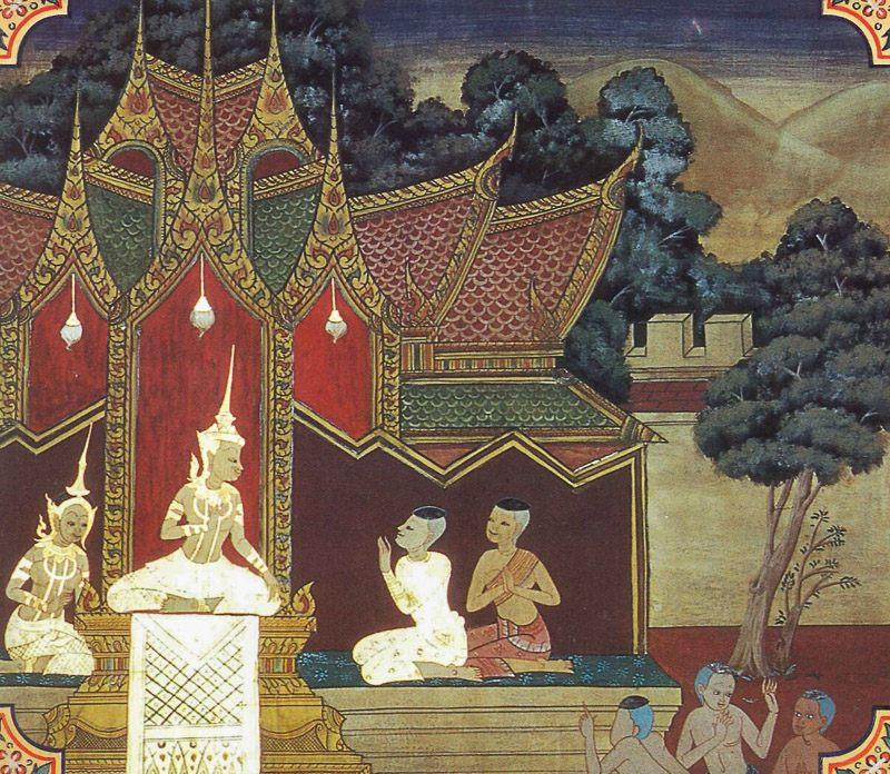 temple painting of Amaradevi-Panha Jataka