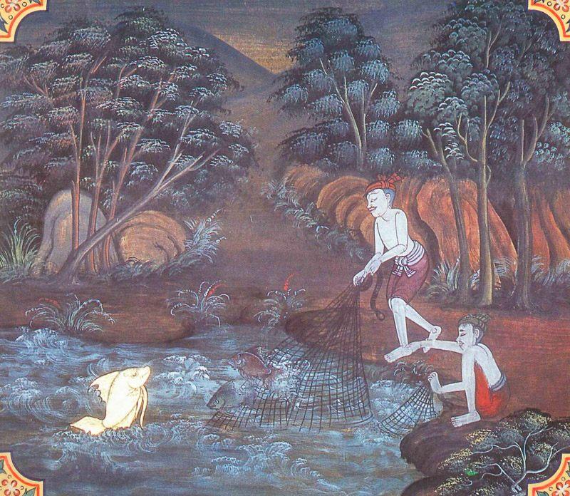 temple painting of Mitacinti Jataka