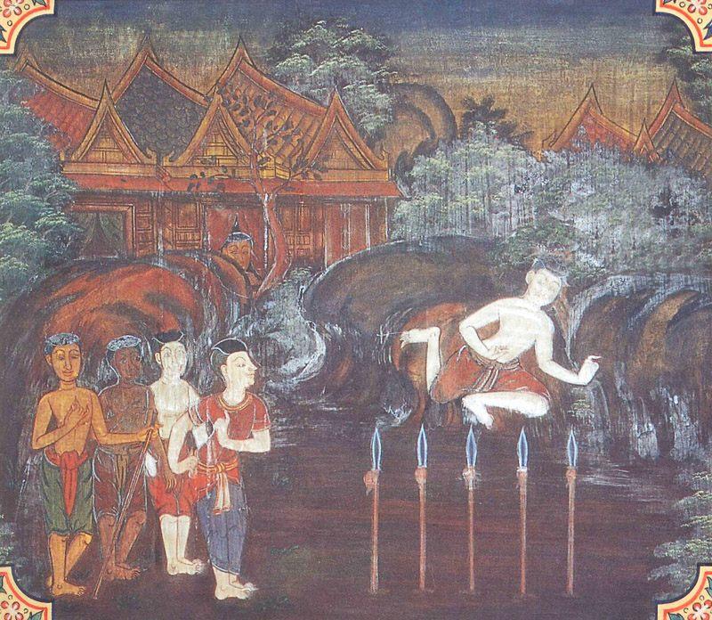 temple painting of Dubbaca Jataka