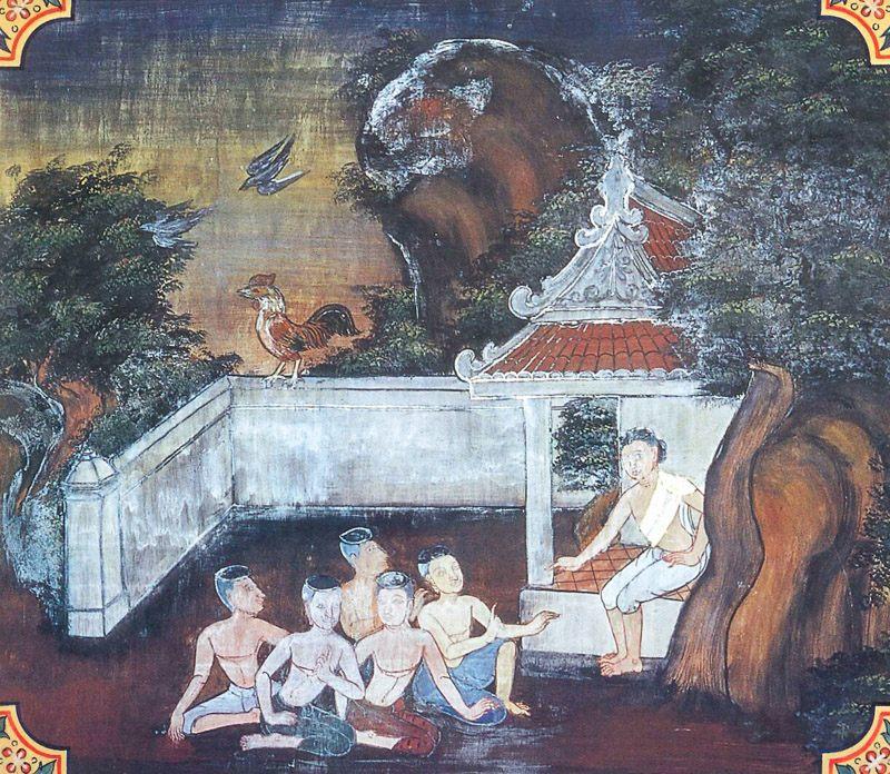 temple painting of Akalaravi Jataka