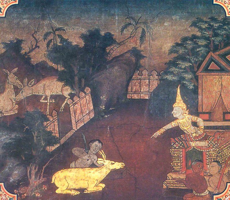 painting of Nigrodhamiga Jataka