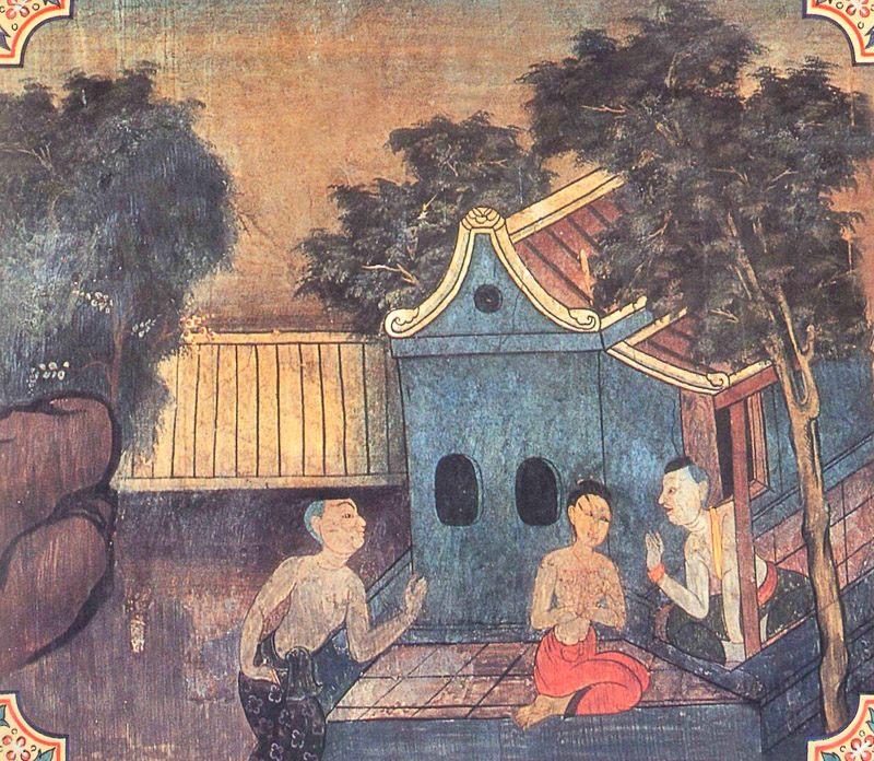 temple painting of Katahaka Jataka