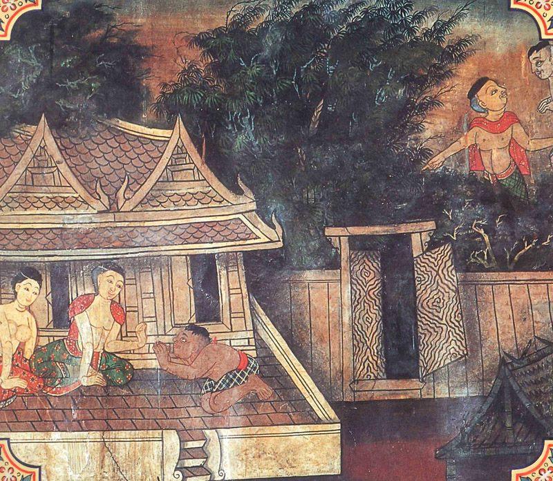 temple painting of Kalanduka Jataka