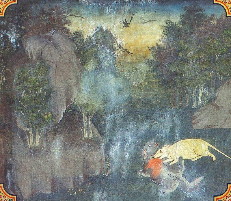 temple painting of Bilara Jataka