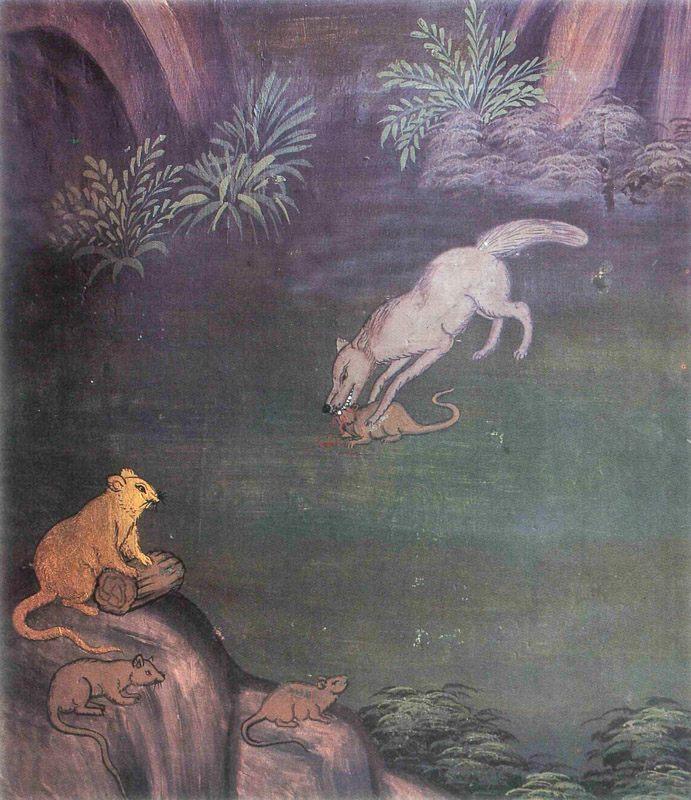 temple painting of Aggika Jataka