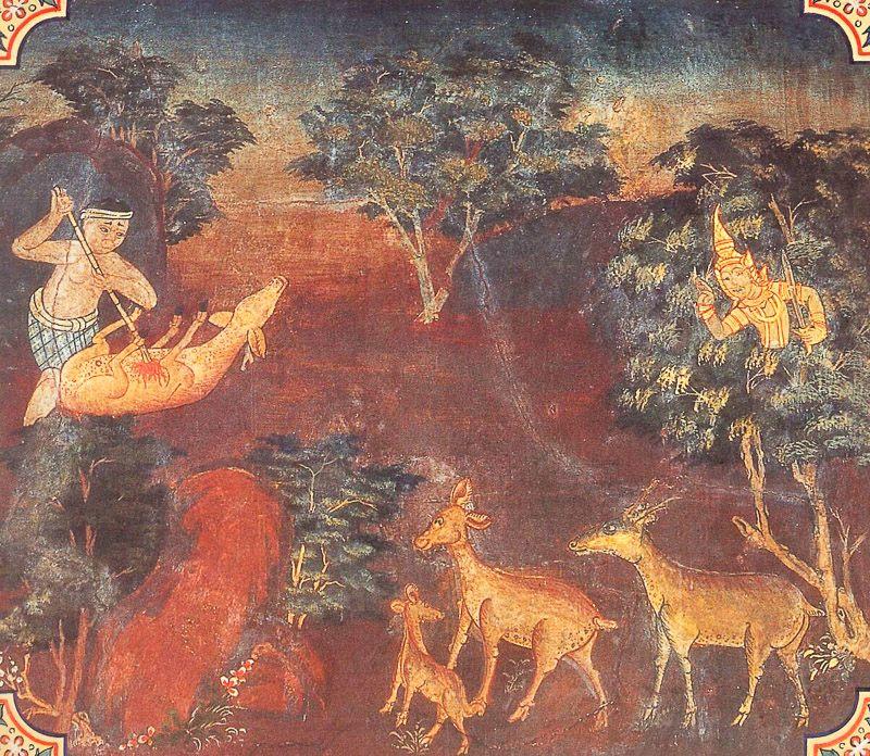 painting of Kandina Jataka