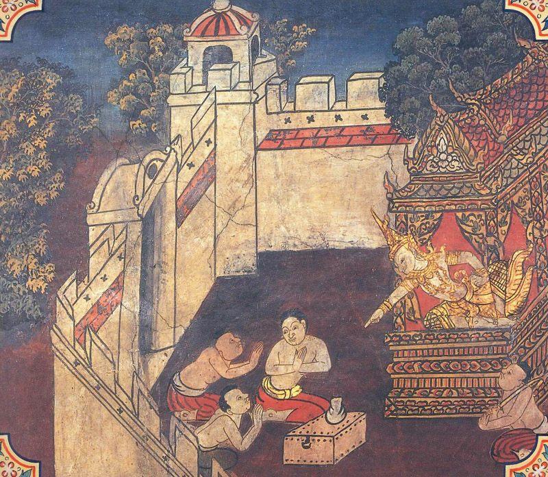 temple painting of Asampadana Jataka