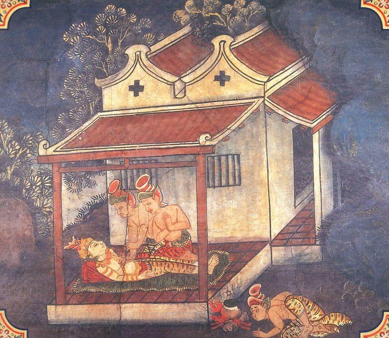 temple painting of Candabha Jataka