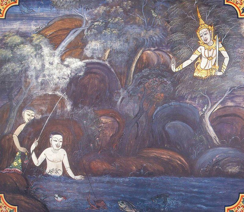 temple painting of Ubhatobhattha Jataka