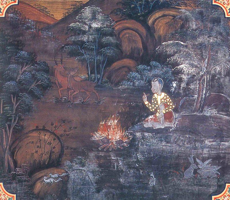 temple painting of Nanguttha Jataka