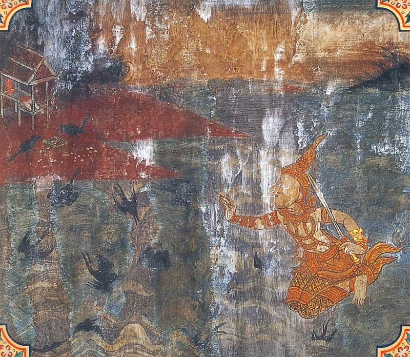 temple painting of Kaka Jataka