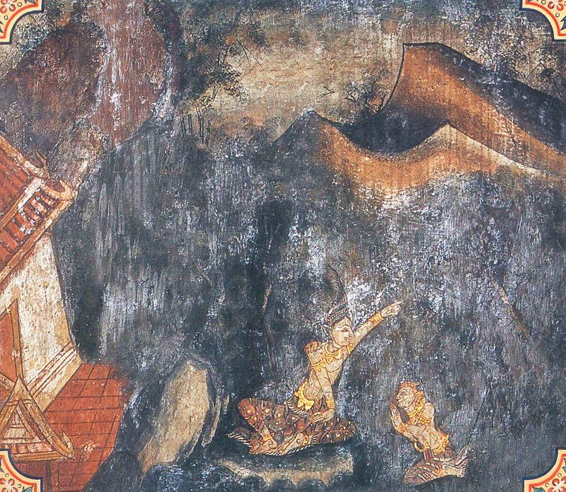 temple painting of Ekapanna Jataka
