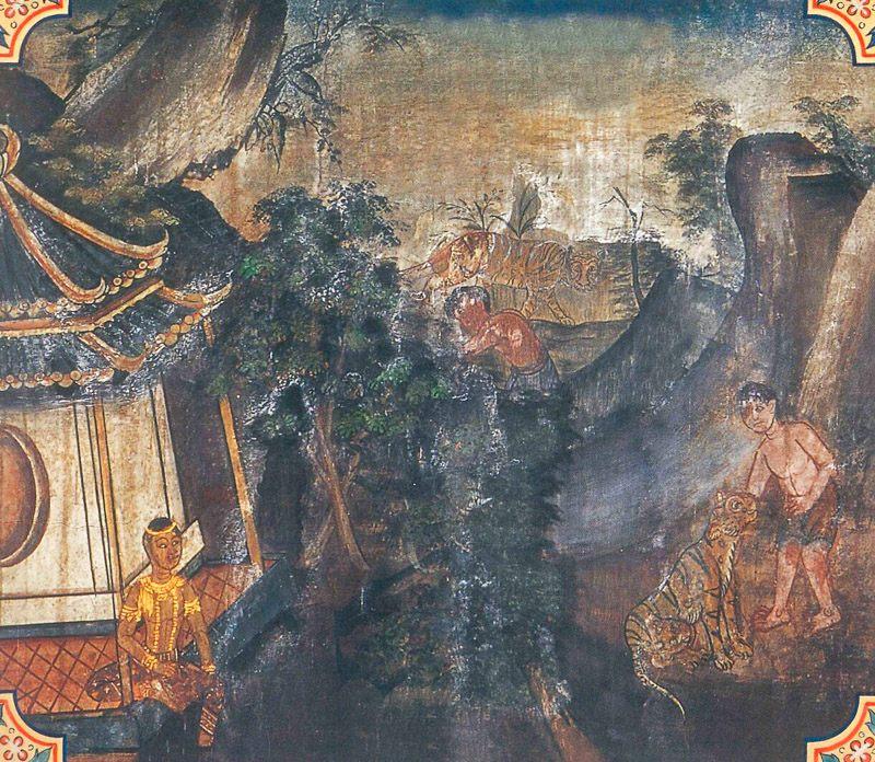 temple painting of Sanjiva Jataka