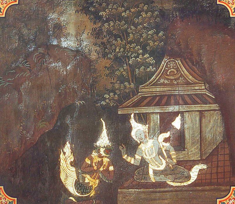 temple painting of Uraga Jataka
