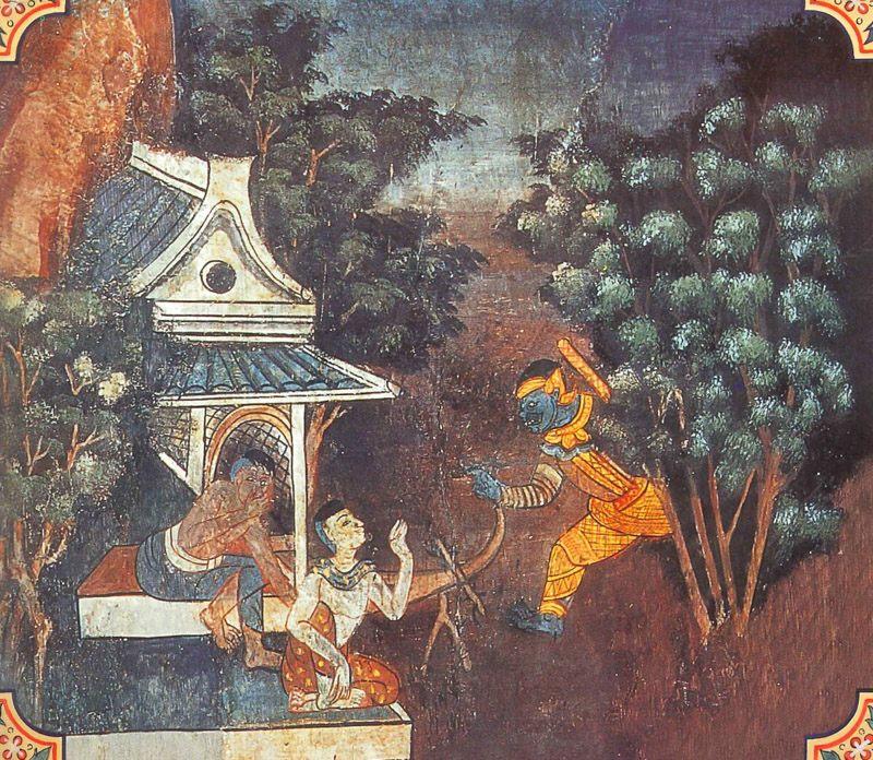 temple painting of Gagga Jataka