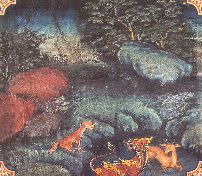 temple painting of Guna Jataka