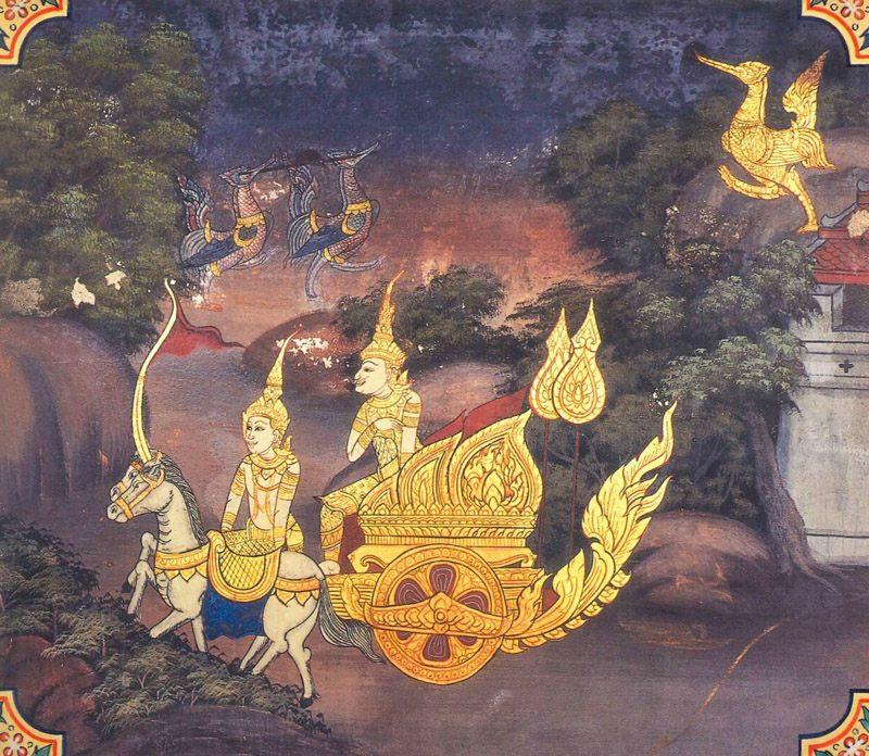 temple painting of Vinilaka Jataka