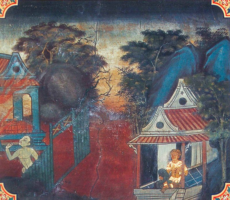 temple painting of Santhava Jataka