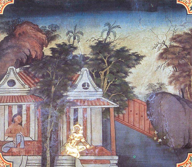 temple painting of Susima Jataka