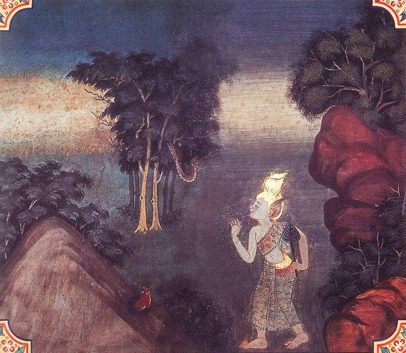 temple painting of Nakula Jataka