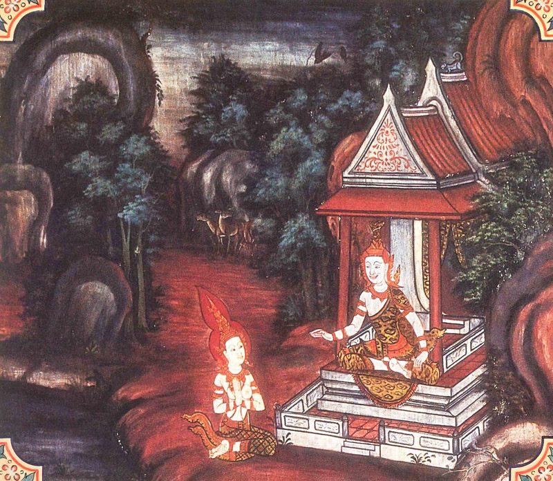 temple painting of Samiddhi Jataka
