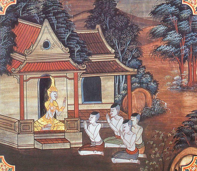 temple painting of Araka Jataka