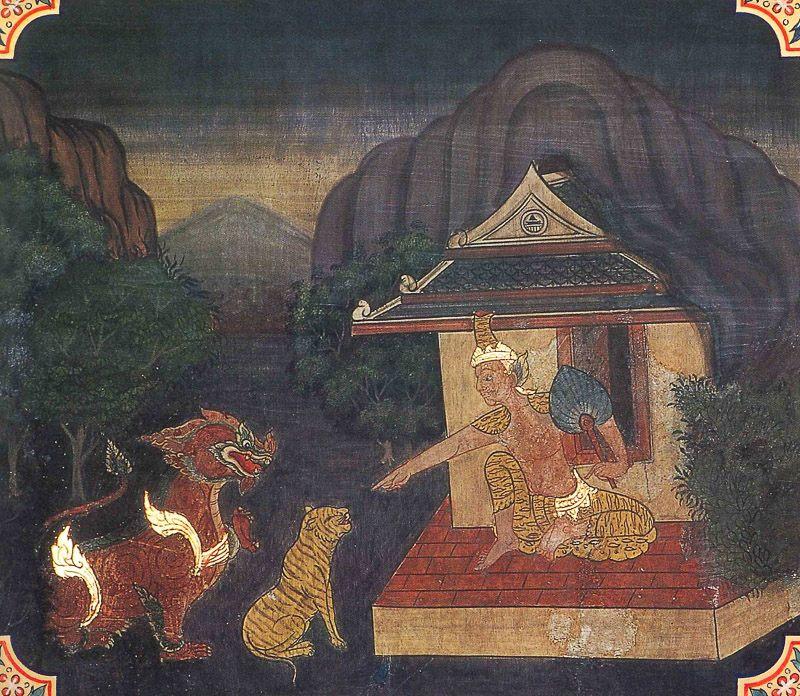 painting of Maluta Jataka