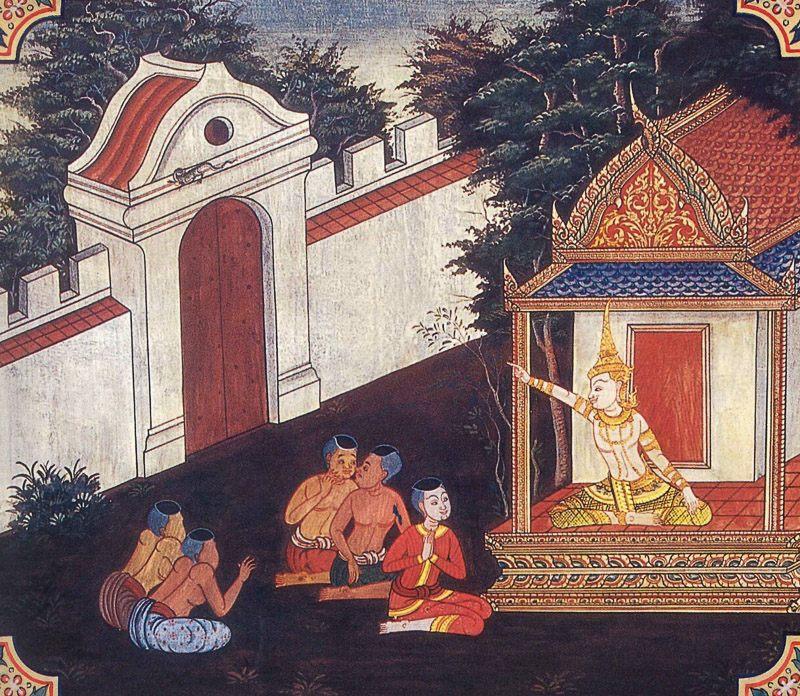 temple painting of Kakantaka Jataka