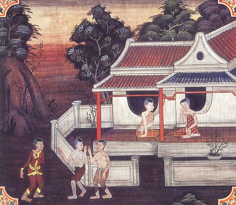 temple painting of Kalyana-Dhamma Jataka