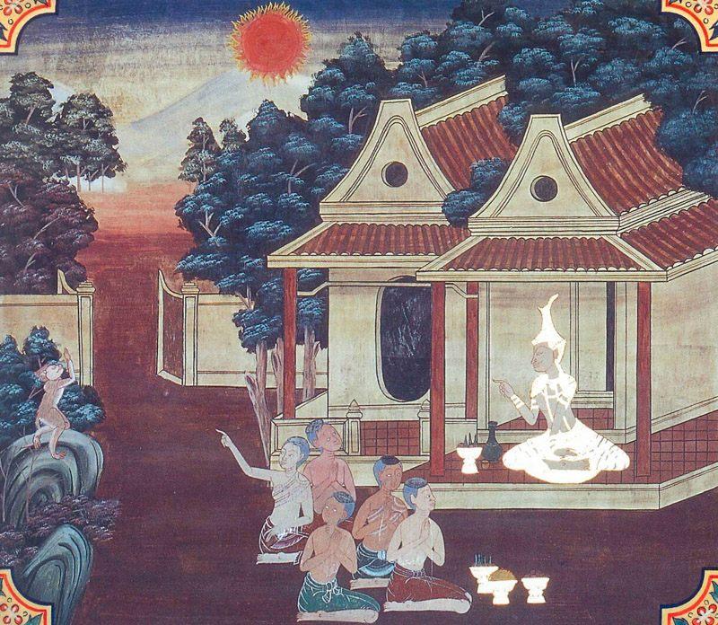 temple painting of Adiccupatthana Jataka