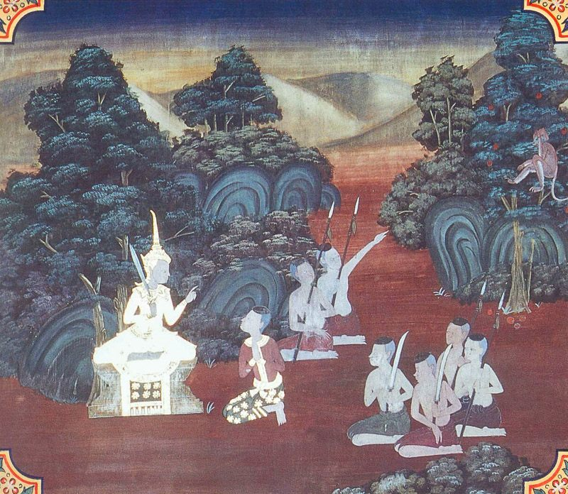 temple painting of Kalaya-Mutthi Jataka