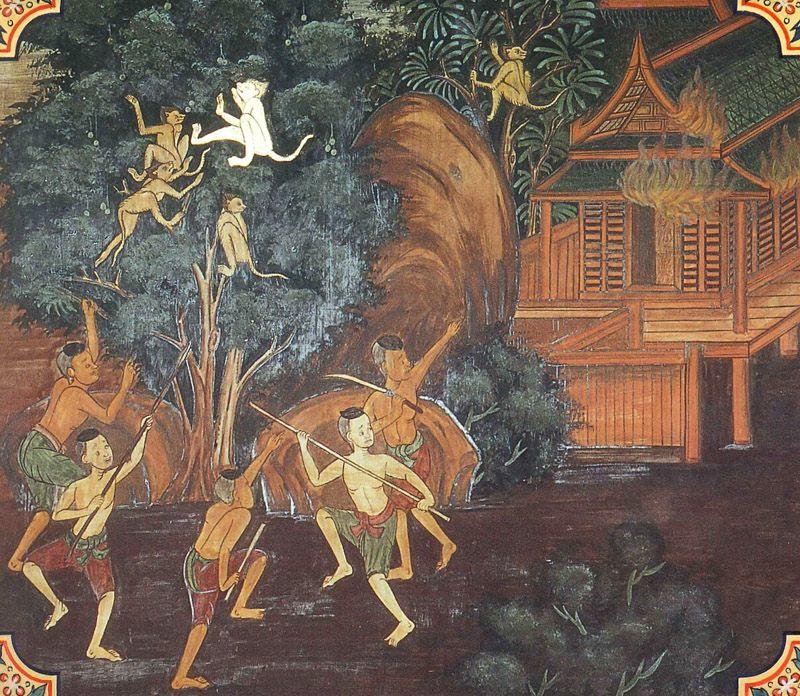 temple painting of Tinduka Jataka