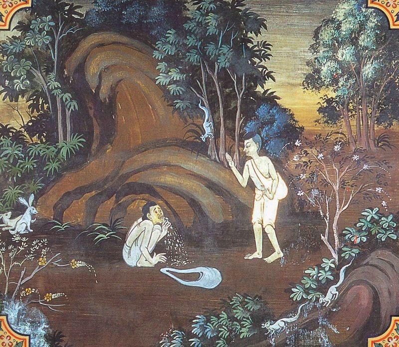 temple painting of Satadhamma Jataka