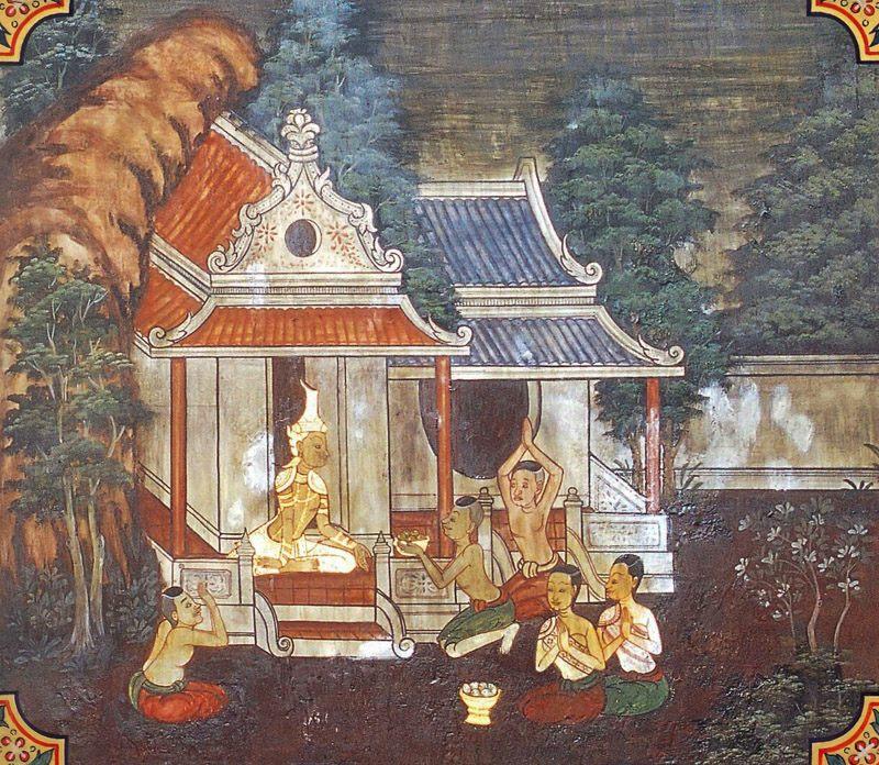temple painting of Duddada Jataka