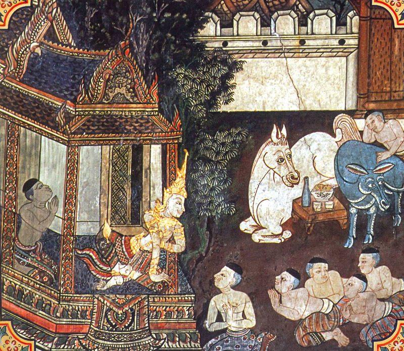 temple painting of Valodaka Jataka