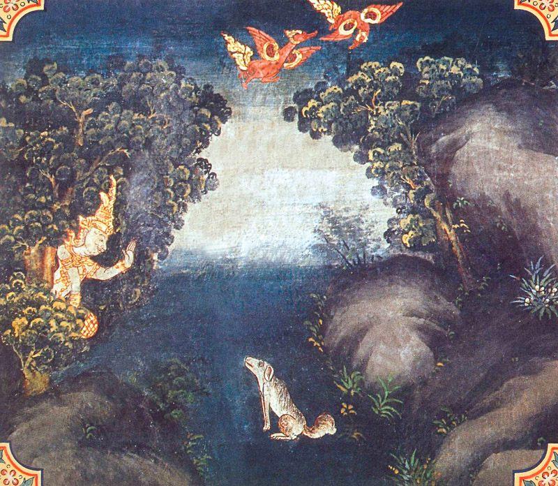 temple painting of Catumatta Jataka