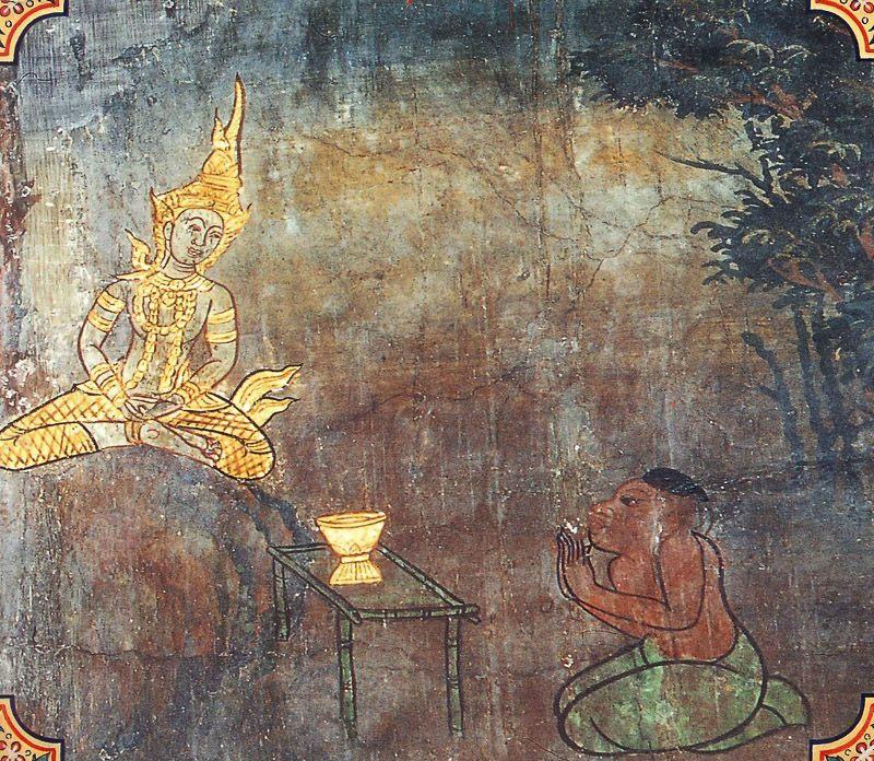 temple painting of Ayacitabhatta Jataka