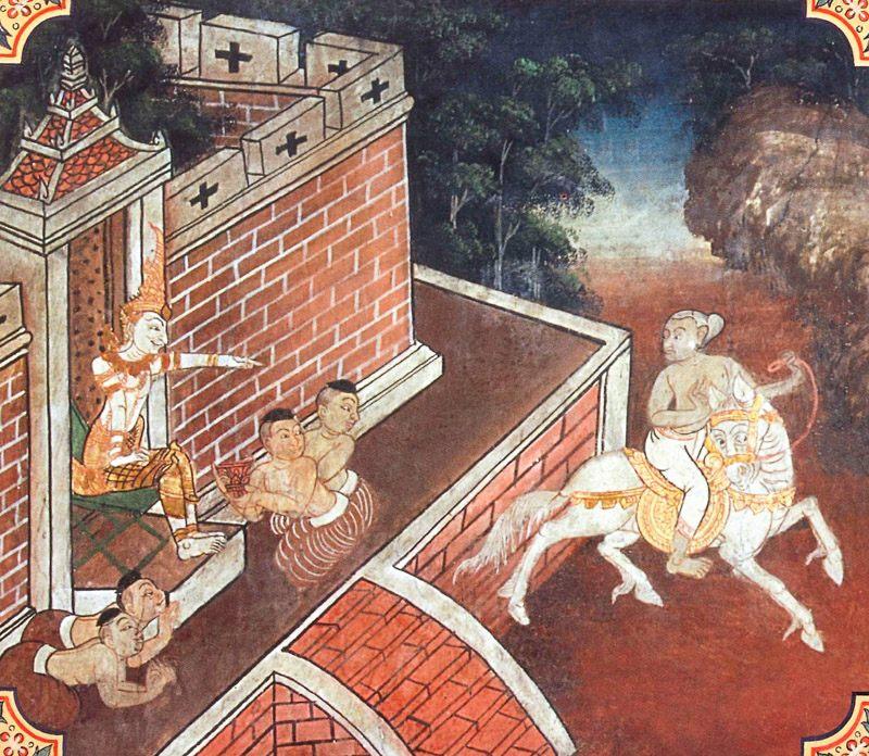 temple painting of Ruhaka Jataka