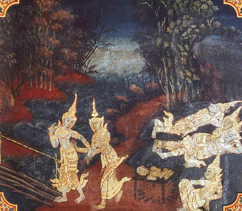 temple painting of Culla-Paduma Jataka