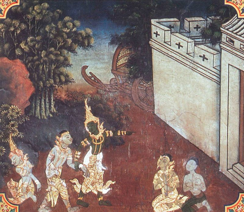 temple painting of Manicora Jataka